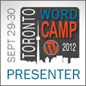 WordCamp Toronto 2012: Backups and Intro to plugins