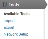 New Network Setup menu item