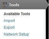 New Network Setup menu item