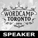 WordCamp Toronto 2015 Speaker Badge